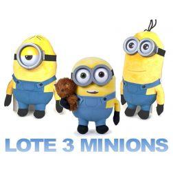 Minions Lote 3 unid. Alta calidad