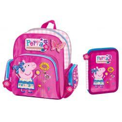 Peppa Pig Conjunto Mochila + Plumier