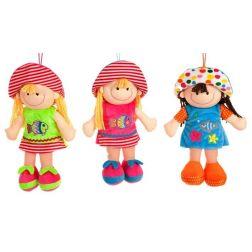Muñequita con sombrero 32 cm.