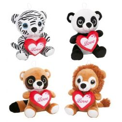 ANIMALITOS PELUCHE CORAZON 22 CM