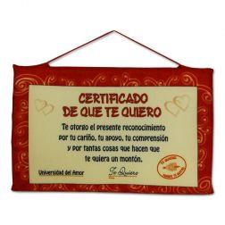Certificado del Amor
